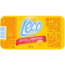 Manteiga e margarina Leco extra cremosa com sal 200g
