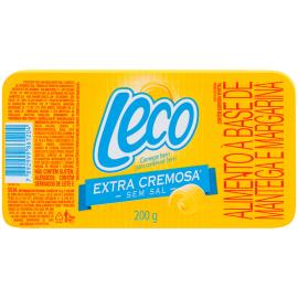 Manteiga e margarina Leco extra cremosa sem sal 200g
