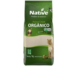 Açúcar Native cristal orgânico claro 1kg