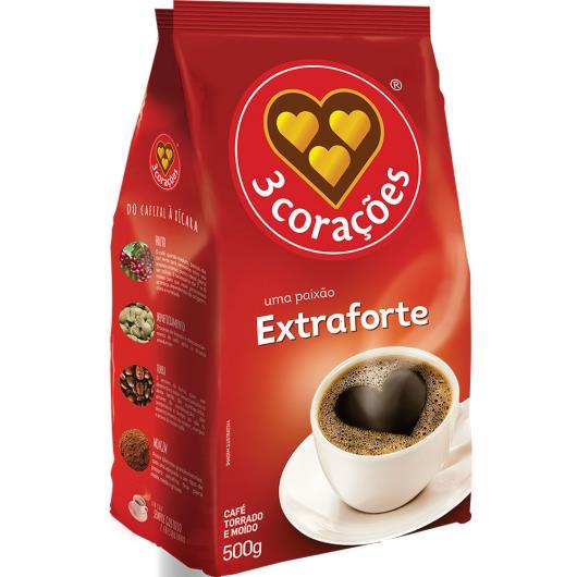 Café extra forte 3 Corações 500g - Imagem em destaque
