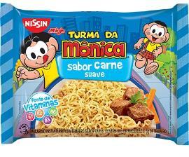 Macarrão Instantâneo Nissin Turma da Mônica Carne Suave 85g