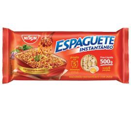 Macarrão instantâneo Nissin espaguete 5 minutos 500g