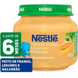 PAPINHA Nestlé Peito de Frango com Legumes e Macarrão Pote 115g