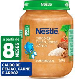 PAPINHA Nestlé Caldo de Feijão Carne e Arroz Pote 170g