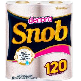 Papel toalha Snob Decorada com 2 unidades