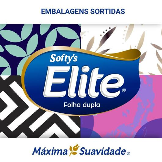 LENÇO DE PAPEL ELITE SOFTY'S MÁXIMA SUAVIDADE 4 PACOTES COM 15fls CADA - Imagem em destaque
