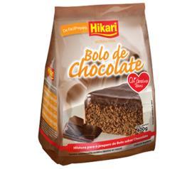 Mistura para bolo Hikari sabor chocolate 400g