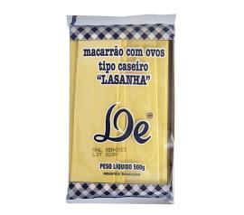 Macarrão De caseiro lasanha 500g