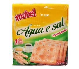 Biscoito Mabel água e sal 400g