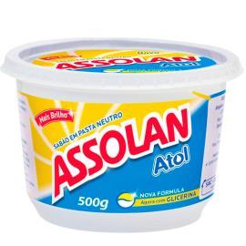 Sabão em pasta brilho Assolan 500g
