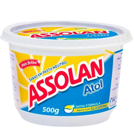 Sabão em pasta brilho Assolan 500g - Imagem em destaque