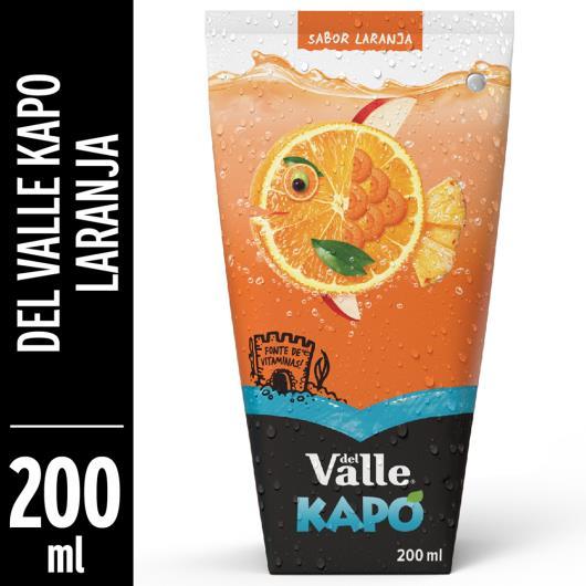 Bebida  mista Del Valle Kapo sabor laranja  200ml - Imagem em destaque