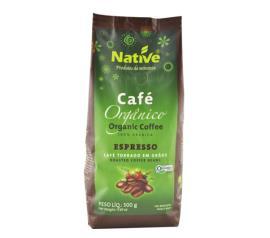 Café Native orgânico torrado grãos 500g