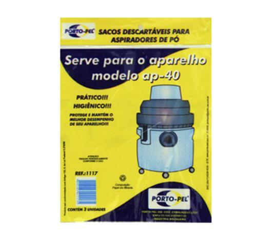 Saco para Aspirador de Pó Porto-Pel Electrolux Hidrolux AP40 - Imagem em destaque