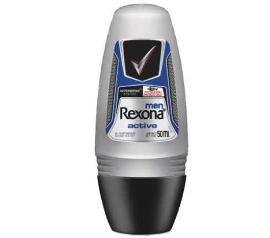 Desodorante Antitranspirante Rexona Men Rollon ACTIVE DRY 50ml - Imagem em destaque