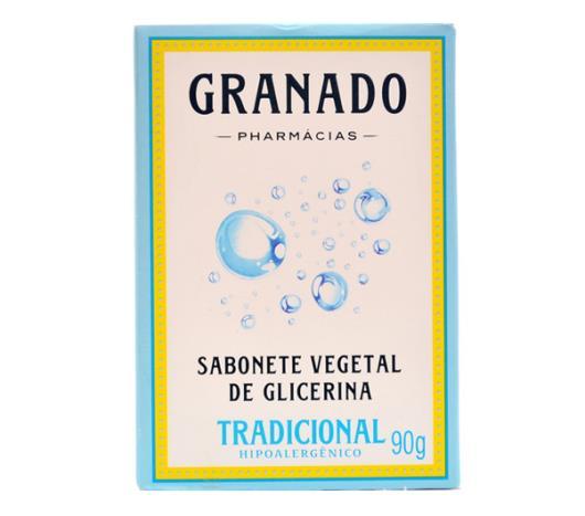 Sabonete Granado glicerina vegetal tradicional 90g - Imagem em destaque