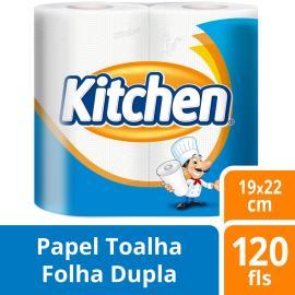 Papel Toalha Kitchen Branca com 2 unids.