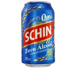Cerveja Schin 0.0% álcool lata 350ml