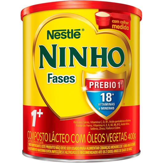 Composto lácteo Nestlé Ninho Fases 1+ Lata 400g - Imagem em destaque