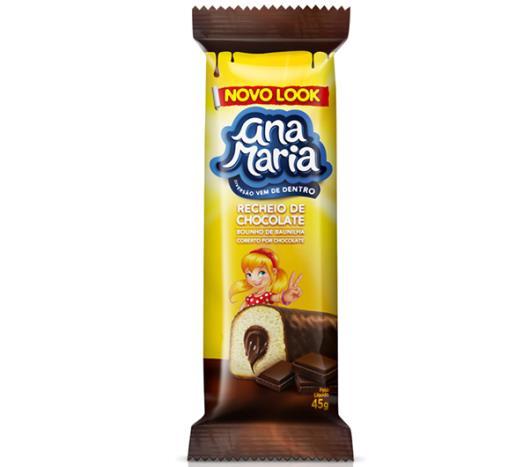 Ana Maria Pullman sabor baunilha, recheio e cobertura de chocolate 45g - Imagem em destaque