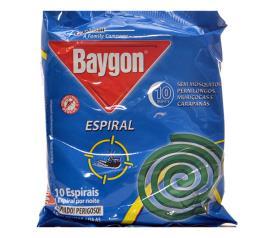 Repelente Baygon espiral de metal com 10 unidades