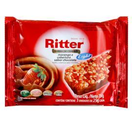 Barra de cereais Ritter sabor morango light 75g