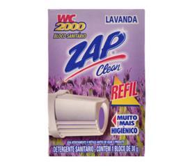 Desodorizante ZAP para bloco sanitário lavanda WC2000 refil 30g
