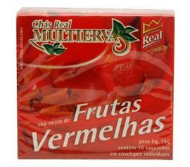Chá multiervas frutas vermelhas com Canela Real 15g
