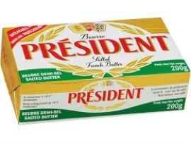 Manteiga com sal Président 200g