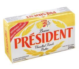 Manteiga President sem Sal 200g