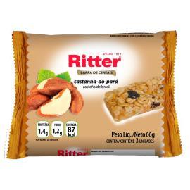 Barra de cereais Ritter sabor castanha do pará 3 unids. de 22g cada