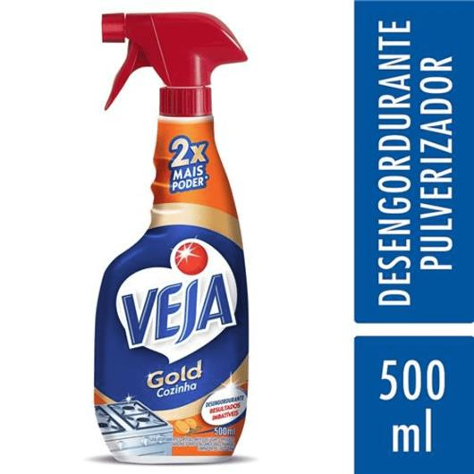 Limpador Veja desengordurante extrato de laranja pulverizador 500ml - Imagem em destaque