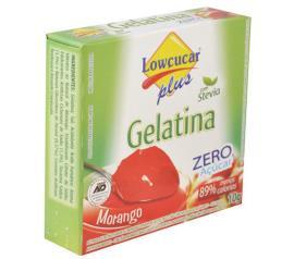 Gelatina em pó Stevia Plus sabor morango zero açúcar 10g