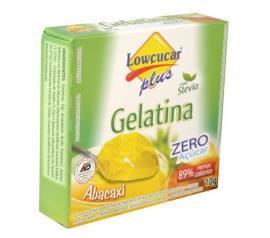 Gelatina em pó Stevia Plus sabor abacaxi zero açúcar 10g