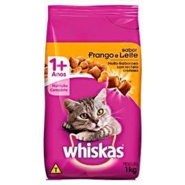 Ração para gatos Whiskas sabor frango e leite 1kg