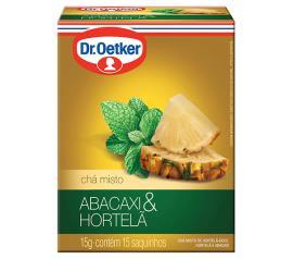Chá Oetker de abacaxi com hortelã 15g