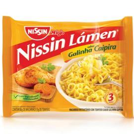 Macarrão instantaneo Nissin lamen galinha caipira 85g