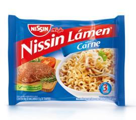 Macarrão instantâneo Nissin lamen sabor carne 85g
