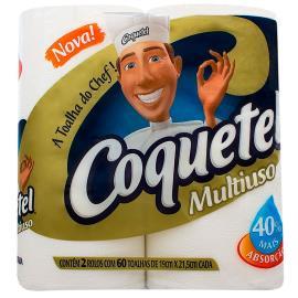 Papel toalha Coquetel multiuso com 2 unidades