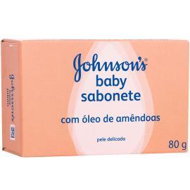 Sabonete Johnson's Baby com óleo de amêndoas 80g