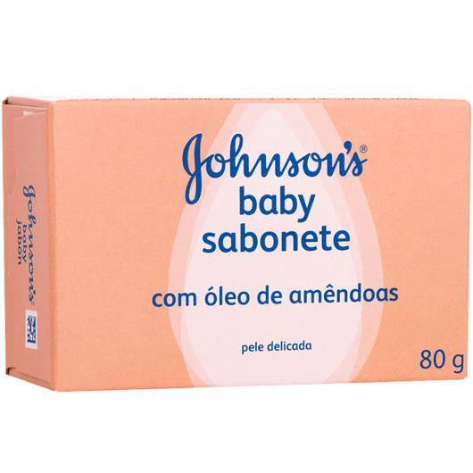 Sabonete Johnson's Baby com óleo de amêndoas 80g - Imagem em destaque