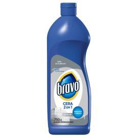 Cera Bravo líquida 2 em 1 incolor 750ml