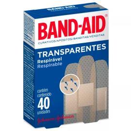 Curativo Band-Aid transparente com 40 unidades