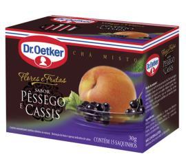 Chá Oetker F&F pêssego com cassis 30g