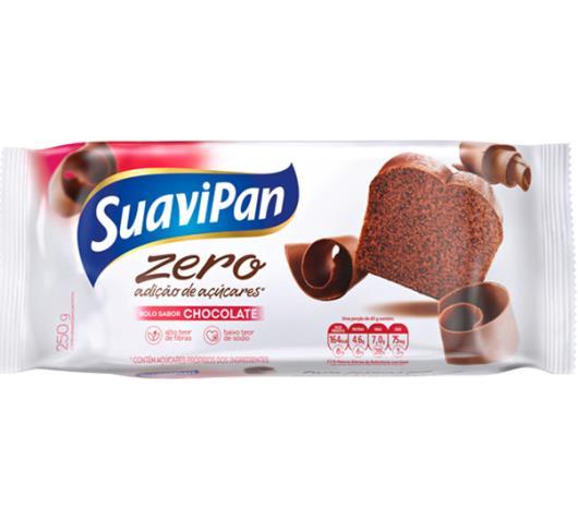 Bolo light sem adiçao de açúcar sabor chocolate Suavipan 250g - Imagem em destaque
