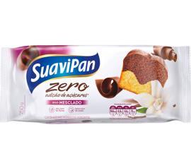 Bolo light sem adição de açúcar sabor mesclado Suavipan 250g