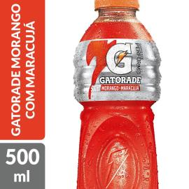 ISOTÔNICO GATORADE MORANGO COM MARACUJÁ 500 ML GARRAFA