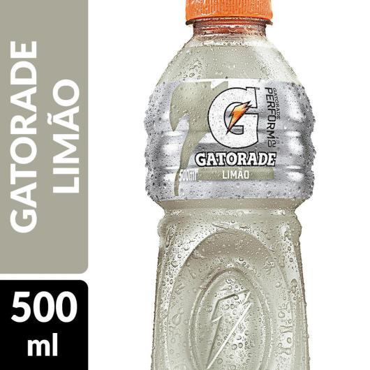 ISOTÔNICO GATORADE LIMÃO 500 ML GARRAFA - Imagem em destaque