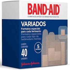 Curativo Band-Aid variados com 40 unidades