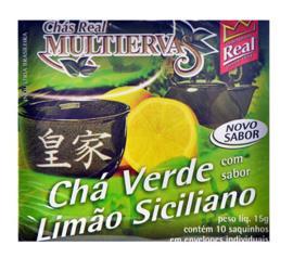 Chá Real multiervas verde com limão siciliano 15g